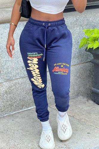 front_Bblythe Esther Dark Blue Plus Sweatpants