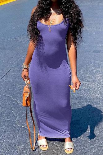 back_Evelyn Jagu Light Purple Dress