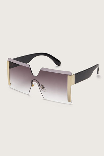 back_Tracy Elsie Grey Gradient Square Rimless Sunglasses