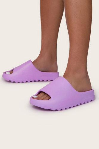 back_Cynthia Eunice Purple Slide & Flip Flop