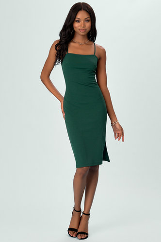back_Harmony Dark Emerald Midi Dress
