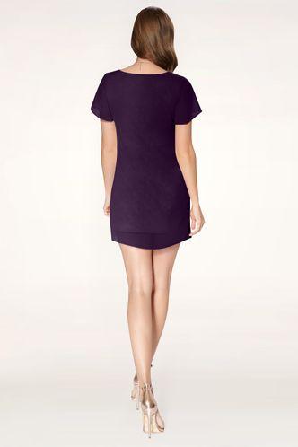 back_Doing It Right Purple Mini Dress