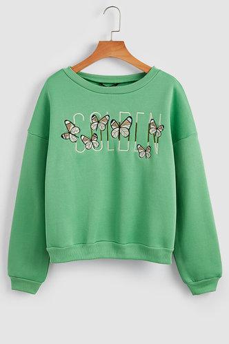 front_Lela Green Sweatshirt