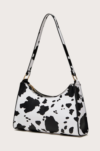 back_Daphne Edith Cow Print Shoulder Bag