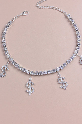 back_Lucilla Esther Silver Anklet Chain