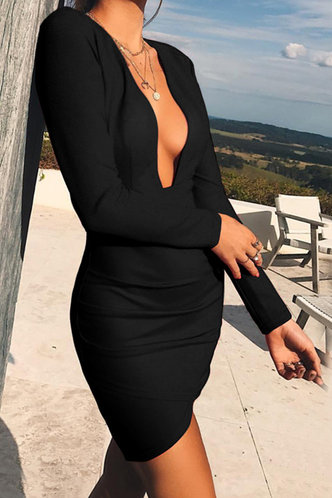 back_Cinderella Ella Black Openback Bodycon Dress
