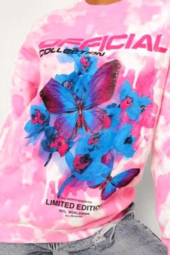 front_Matilda Eunice Pink Tie Dye Pullover