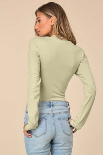 back_Chic Style Apricot Fitted Tee