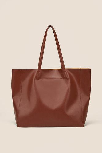 front_Kimberly Ella Brown Tote Bag