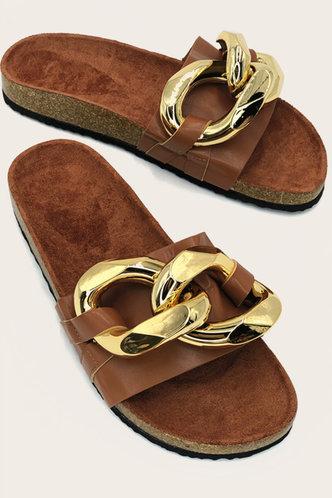 back_Josie Esther Brown Footbed Sandals