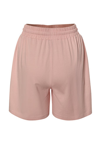 back_Comforting Blush Drawstring Shorts