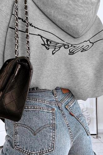 front_Hulda Eunice Grey Sweatshirt & Hoody