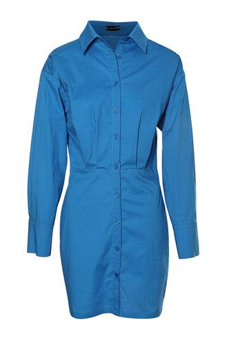 front_Cathy Eileen Blue Front Shirt Dress