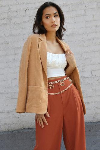 front_Viola love Rust Red Hi-Rise Culotte pants