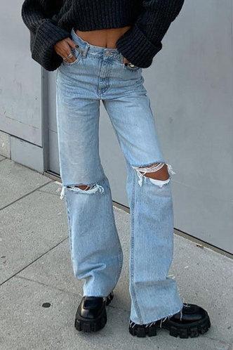 front_Opal Eden Blue Ribbed Kned Jeans