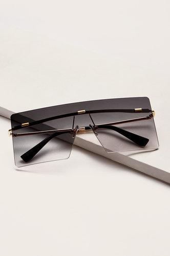 front_Gertie Eleanore Grey Gradient Square Frame Sunglasses