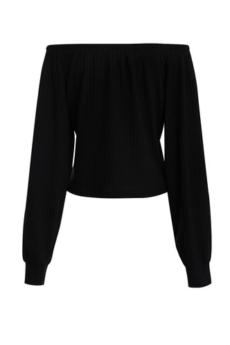back_Green With Envy Black Solid Top
