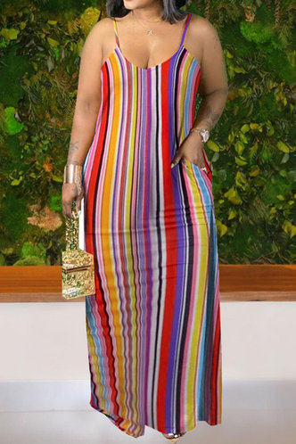front_Eunice Nakan Rainbow Striped Plus Cami Dress