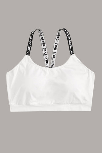 back_Francesca Edwina White Plus Activewear Top