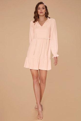 front_Benevolence Pink Mini Dress