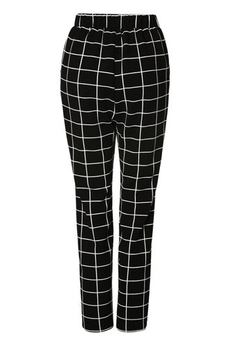 front_Pure Perfection Black High Rise Straight Leg Pants