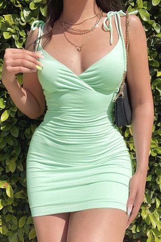 front_Lena Emma Mint Green Dress