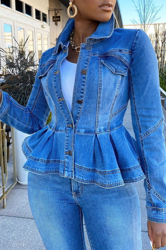 front_Vacation Street Wash Blue Outerwear