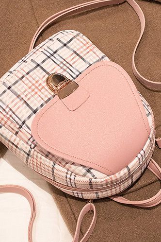 back_Eunice Hakil Pink Plaid Bagpack