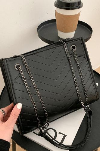 front_Corinne Emma Black Shoulder Bag