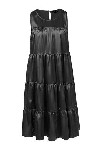 front_Make Me Whole Black Mini Dress