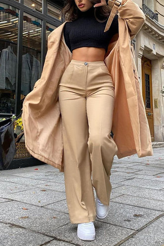 back_Sheila Eden Khaki Wide Leg Trousers