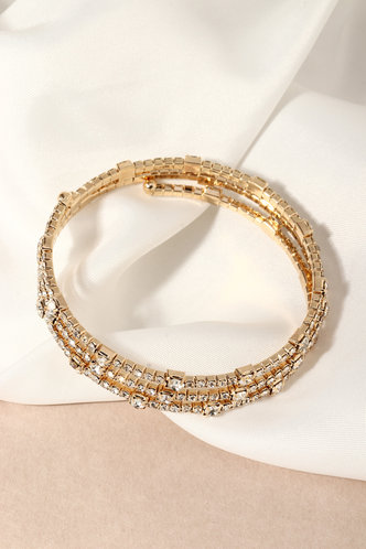 back_Faithe Kredeblo Gold Rhinestone Design Bracelet 3pcs