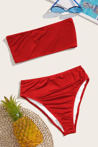 back_Kelly Elaine Red Bikini
