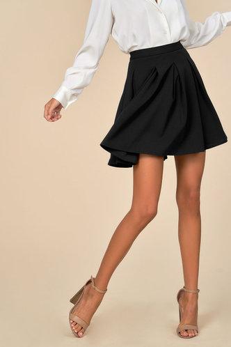 front_Flare Affair Black Skirt