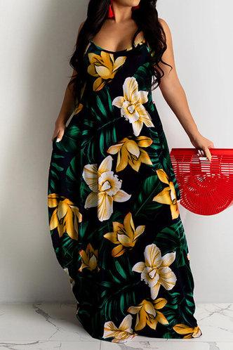 front_Hannah Kradan Floral Print Plus Dress