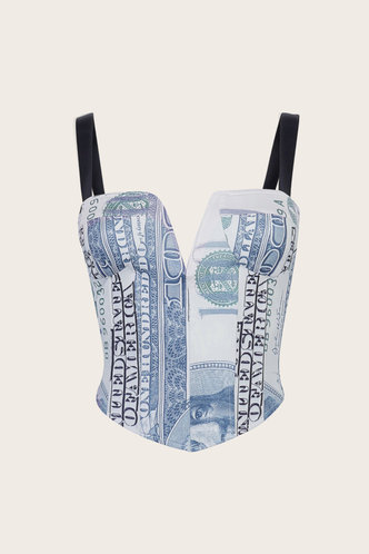 back_Harriet Grinhilt Dollar Print Crop Top