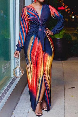back_Chloe Laget Tie Dye Tie Front Split Hem Maxi Dress