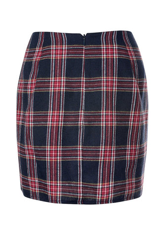back_Plaid 'N Bougie {color} Mini Skirt
