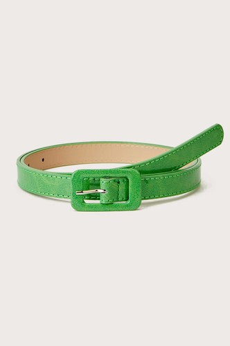 front_Philipppa Elizabeth Mint Geen Square Buckle Belt