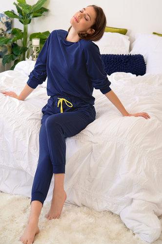 back_Carry On Navy Blue PJ Set