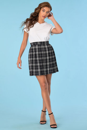 back_Check Please Black Plaid Skirt