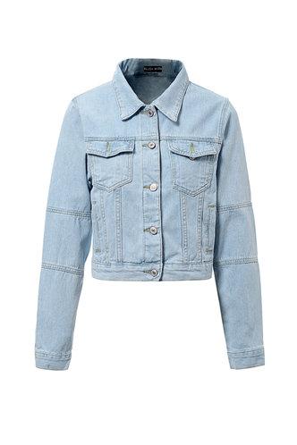 front_Pick Me Up  Pastel Blue Denim Jacket