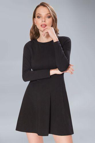front_Drop The Music Black Mini Dress