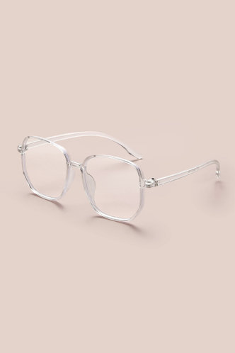 front_Square Transparent Glasses & Eyewear accessories