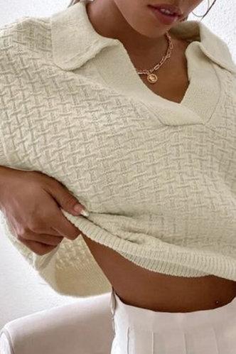 front_Allie Evangeline Beige Sweater