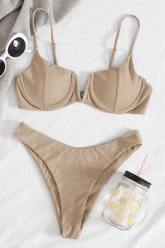 front_Bonita Elaine Khaki Bikini