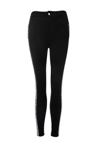 front_Make It Rain Black Skinny Jeans
