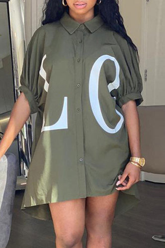 front_Phyllis Eve Army Green Button Up Dress