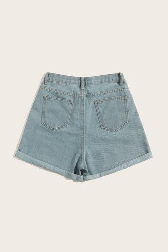 back_Kimberly Enid Wash Light Blue Shorts