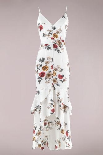back_I Want It Ivory Floral Print Maxi Dress